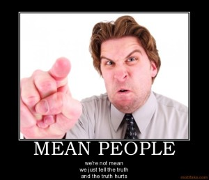 mean person pointing